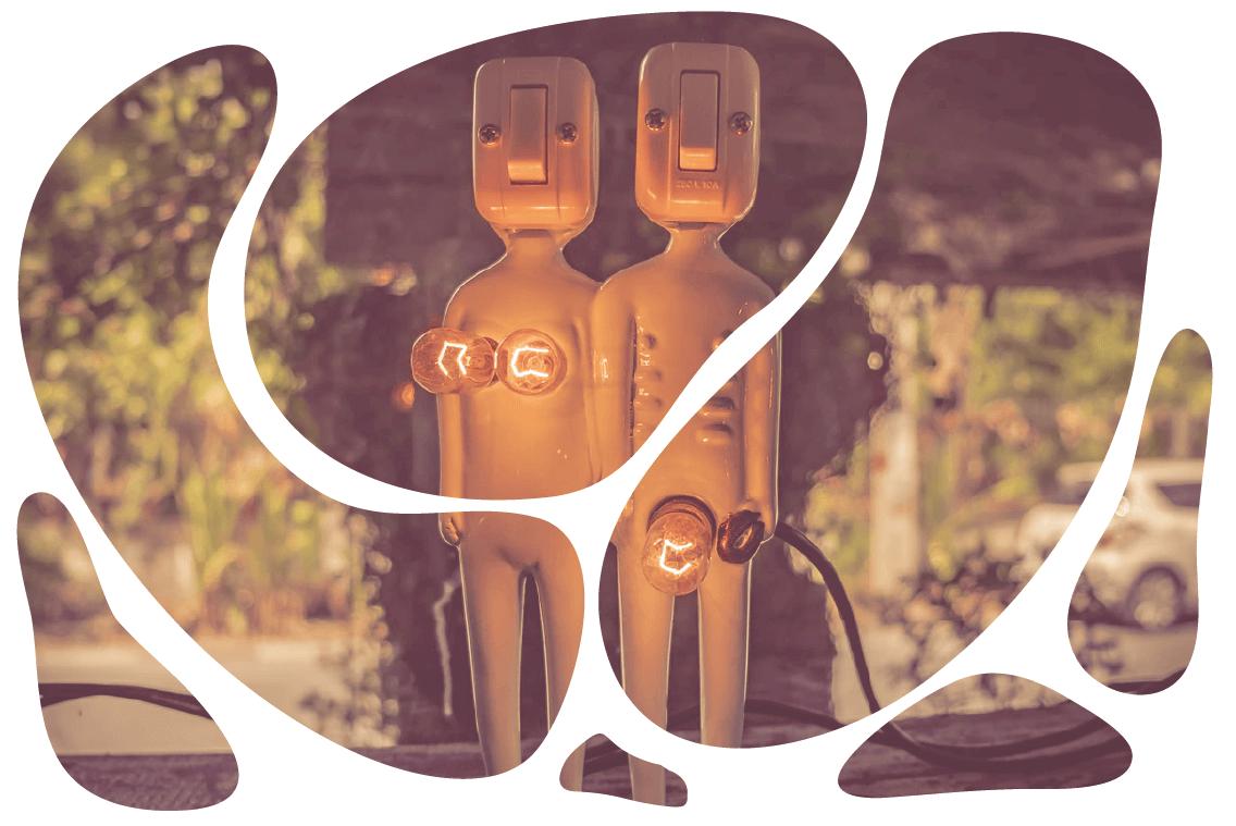 bonequinhos representando homem e mulher